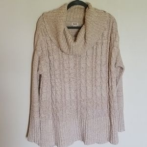 Mossimo Tan Cowl Neck Knit Sweater XL